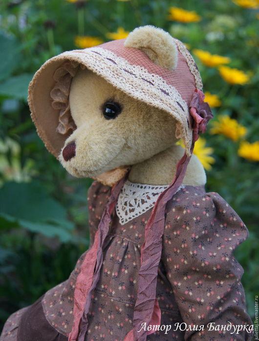 Мишки Тедди ручной работы. Ярмарка Мастеров - ручная работа. Купить Маруся. Handmade. Оливковый, опилки, антикварное кружево