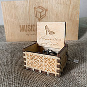 Музыкальные инструменты handmade. Livemaster - original item Music box Cinderella A dream is a wish your heart makes