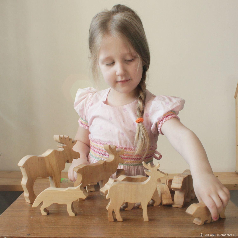 """Набор """"Животные Маньчжурии"""", Вальдорфские куклы и звери, Благовещенск,  Фото №1"""
