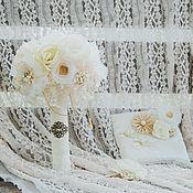 """Свадебный салон ручной работы. Ярмарка Мастеров - ручная работа Свадебный комплект """"шебби-шик"""". Handmade."""
