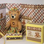 Куклы и игрушки ручной работы. Ярмарка Мастеров - ручная работа мишка в юбочке. Handmade.