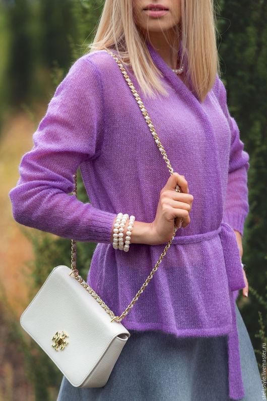 Кофты и свитера ручной работы. Ярмарка Мастеров - ручная работа. Купить Violet... Handmade. Фиолетовый, вязаный кардиган, модный цвет
