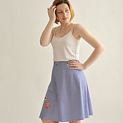 Одежда handmade. Livemaster - original item Striped skirt Chernomorochka. Handmade.