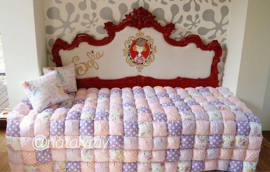 Текстиль, ковры ручной работы. Ярмарка Мастеров - ручная работа. Купить Бисквитное лоскутное одеяло в технике бом-бон. Handmade.