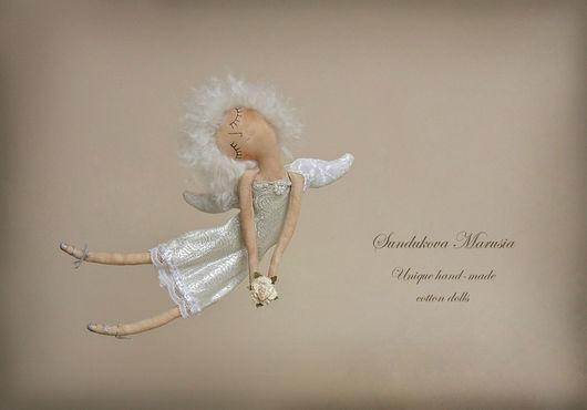"""Ароматизированные куклы ручной работы. Ярмарка Мастеров - ручная работа. Купить """"Ангел блистательный"""" - авторская кофейная куколка. Handmade. Белый"""