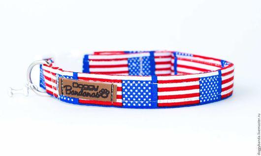 """Одежда для собак, ручной работы. Ярмарка Мастеров - ручная работа. Купить Ошейник для собак """"Флаг"""". Handmade. Ошейник, щенок"""
