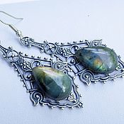 Украшения handmade. Livemaster - original item Earrings Labradorite Daria. Handmade.