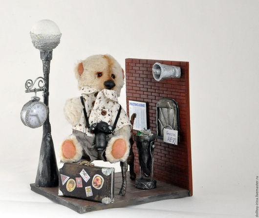 Мишки Тедди ручной работы. Ярмарка Мастеров - ручная работа. Купить Мишка «Отпускник Петя». Handmade. Бежевый, мишка в подарок