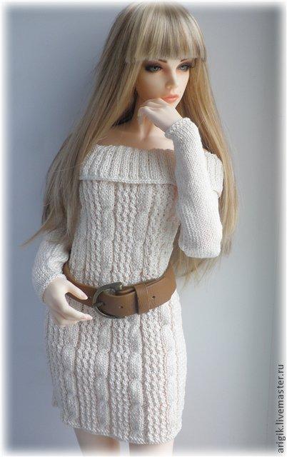 Одежда для кукол ручной работы. Ярмарка Мастеров - ручная работа. Купить Платье и сапожки на МСД. Handmade. Серебряный, платье, doll