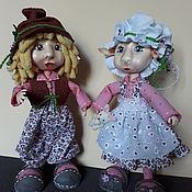 Куклы и игрушки ручной работы. Ярмарка Мастеров - ручная работа Дружные эльфы. Handmade.