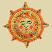 Русский стиль handmade. Livemaster - original item patch applique embroidery ancient Slavic sun amulet. Handmade.