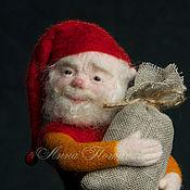 ручной работы. Ярмарка Мастеров - ручная работа Авторская войлочная кукла гном Мартин. Handmade.