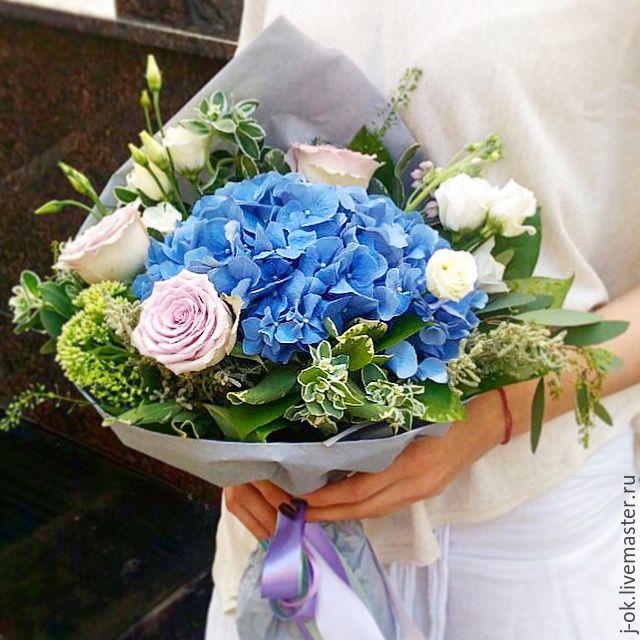Букет цветов в синих и сиреневых оттенках, Букеты, Москва, Фото №1