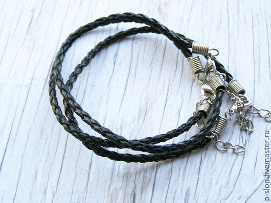 Для украшений ручной работы. Ярмарка Мастеров - ручная работа. Купить Ремешок для браслета плетеный черный 20мм Р24. Handmade.