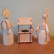 Заготовки для декупажа и росписи ручной работы. Ярмарка Мастеров - ручная работа Качели, колодец, скамейка для куклы( игрушки для куклы). Handmade.