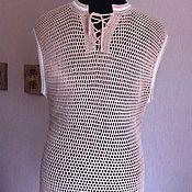 Одежда handmade. Livemaster - original item T - shirt- mesh crochet.. Handmade.