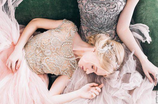 Свадебные украшения ручной работы. Ярмарка Мастеров - ручная работа. Купить Свадебный венок для волос. Венок на голову. Украшение для невесты. Handmade.
