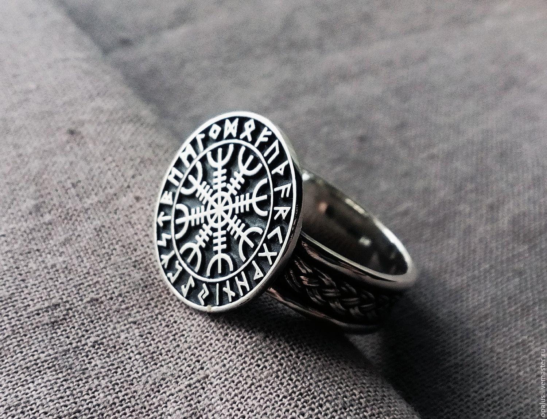 "Sterling silver ring ""Aegishjalmur"", Folk decorations, Moscow,  Фото №1"