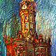 Пейзаж ручной работы. Ярмарка Мастеров - ручная работа. Купить Дубровицкая церковь. Handmade. Пейзаж, церковь, картина для интерьера, пастель