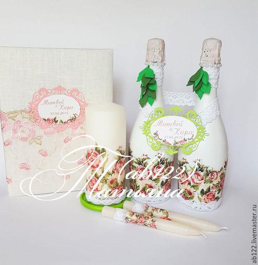 Свадебные аксессуары ручной работы. Ярмарка Мастеров - ручная работа. Купить Свадебный набор для летней свадьбы. Handmade. Комбинированный