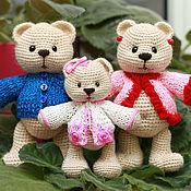Куклы и игрушки ручной работы. Ярмарка Мастеров - ручная работа Мишка Дуняшка с мамой и папой. Handmade.