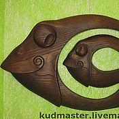 """Картины и панно ручной работы. Ярмарка Мастеров - ручная работа """"Рыба в рыбе`. Handmade."""