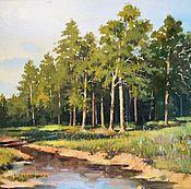 Картины и панно ручной работы. Ярмарка Мастеров - ручная работа Лесной ручей. Handmade.