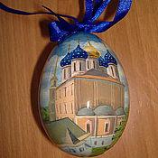 """Сувениры и подарки ручной работы. Ярмарка Мастеров - ручная работа расписанное яйцо """"Кремль"""". Handmade."""