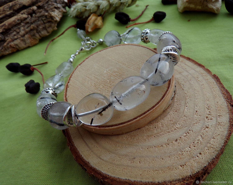 Bracelet with tourmaline quartz, Amulet, Ekaterinburg,  Фото №1