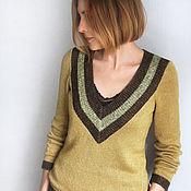 Одежда handmade. Livemaster - original item Pullover Mustard. Handmade.