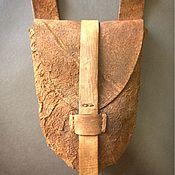 Субкультуры ручной работы. Ярмарка Мастеров - ручная работа Сумка на пояс коричневая. Handmade.