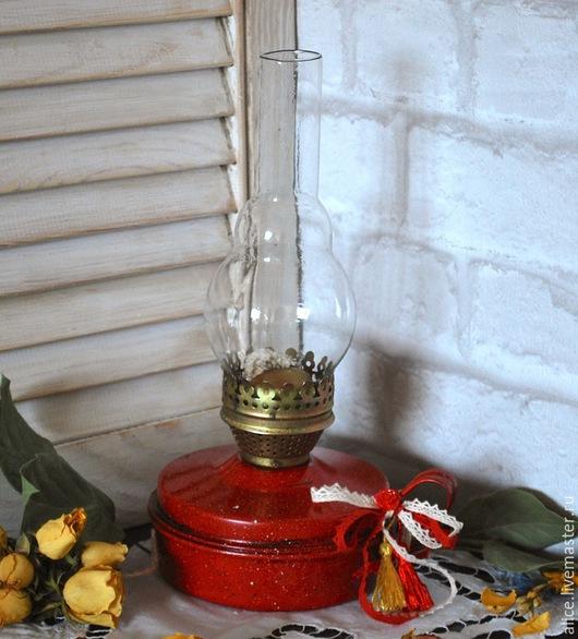 Освещение ручной работы. Ярмарка Мастеров - ручная работа. Купить Лампа керосиновая РИВЬЕРА. Handmade. Ярко-красный, керосиновая лампа