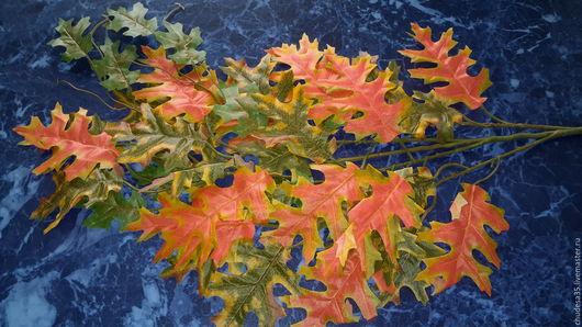 Материалы для флористики ручной работы. Ярмарка Мастеров - ручная работа. Купить Листья осенние Дуба. Handmade. Оранжевый, осень