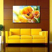 Картины и панно handmade. Livemaster - original item Yellow tulips. Handmade.