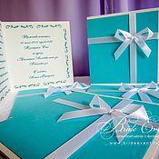 Свадебный салон ручной работы. Ярмарка Мастеров - ручная работа Свадебные приглашения в стиле тиффани. Handmade.
