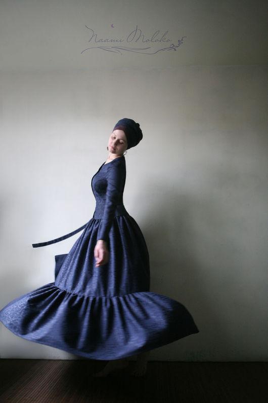 """Платья ручной работы. Ярмарка Мастеров - ручная работа. Купить Платье """"Бидайя"""". Handmade. Тёмно-синий, синее платье в пол"""