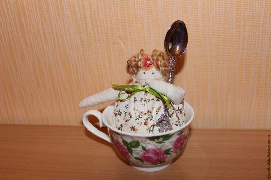 Куклы Тильды ручной работы. Ярмарка Мастеров - ручная работа. Купить тильда в чашке (чайная фея). Handmade. Чайная фея