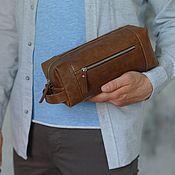 handmade. Livemaster - original item Men`s Travel Bag made of genuine leather (Size S). Handmade.