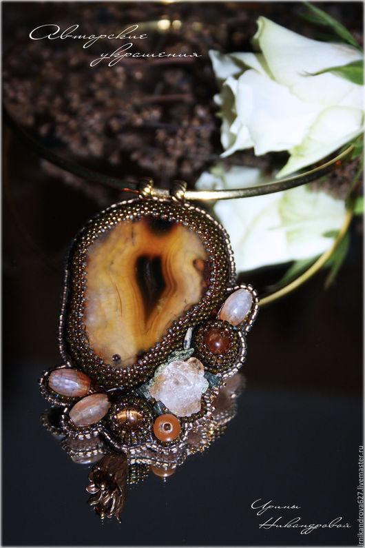 """Колье, бусы ручной работы. Ярмарка Мастеров - ручная работа. Купить Колье """"Вересковый мед"""". Handmade. Колье, кулон с камнем"""