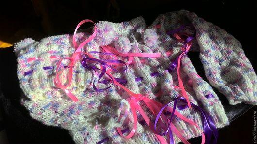 Одежда для девочек, ручной работы. Ярмарка Мастеров - ручная работа. Купить Детский комплект Нежность. Handmade. Комбинированный, тесьма для декора