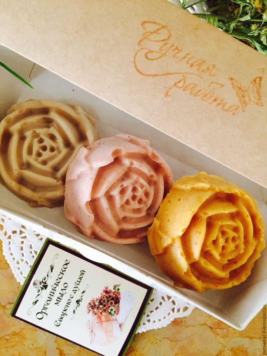 """Мыло ручной работы. Ярмарка Мастеров - ручная работа. Купить Набор""""Любимые розы"""" ЭКО Мыло с нуля,подарок девушке. Handmade."""