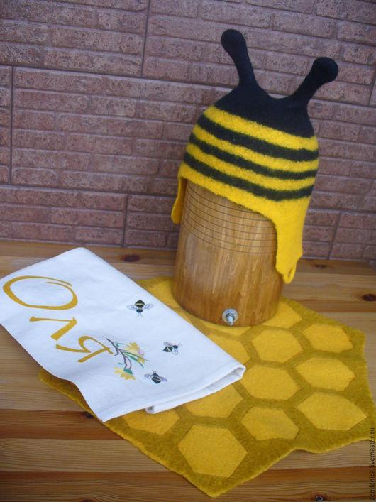 """Банные принадлежности ручной работы. Ярмарка Мастеров - ручная работа. Купить Банный комплект """"Пчелка"""". Handmade. Банные принадлежности"""