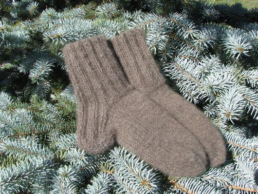 Носочки из собачей шерсти. Носки связаны на заказ, из шерсти собаки заказчика шерсти чау-чау.