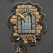 """Украшения ручной работы. Ярмарка Мастеров - ручная работа Кулон-брошь """"Окно старого замка"""". Handmade."""