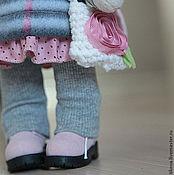 Куклы и игрушки ручной работы. Ярмарка Мастеров - ручная работа Зайцы. Зайка в розовой накидке. Handmade.