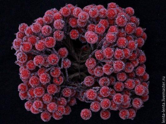 Материалы для флористики ручной работы. Ярмарка Мастеров - ручная работа. Купить Ягодки красные в обсыпке, снегу, сахаре. 10 мм., на проволоке.. Handmade.