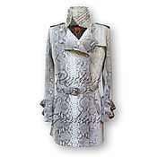 Одежда handmade. Livemaster - original item Women`s Python skin raincoat ADEL. Handmade.