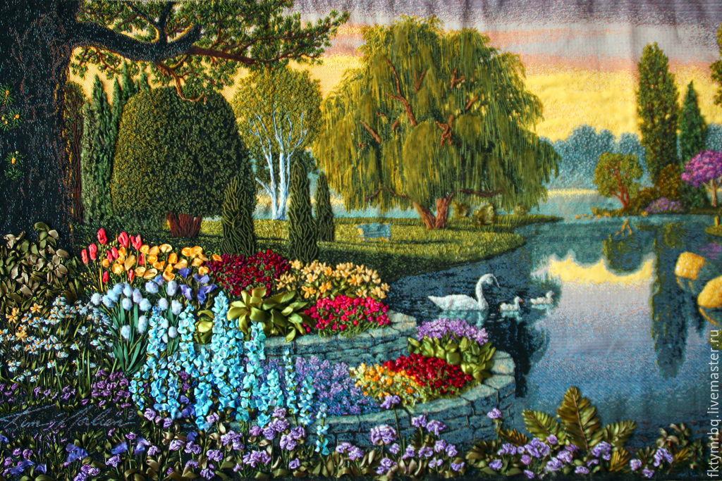 Вышивка лентами картины пейзажи 99