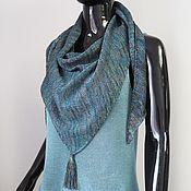 Аксессуары handmade. Livemaster - original item Kerchief with a tassel knitted Summer cotton kerchief. Handmade.