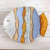 Посуда ручной работы. Ярмарка Мастеров - ручная работа Большое блюдо- рыба. Handmade.